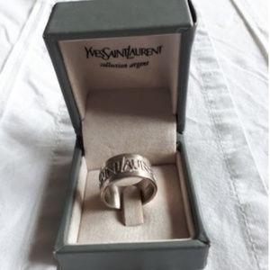 Yves Saint Larent Silver Ring